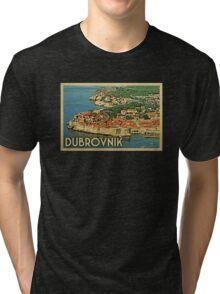 Dubrovnik Vintage Travel T-shirt Tri-blend T-Shirt