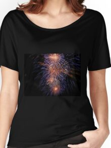 Blue fireworks Women's Relaxed Fit T-Shirt