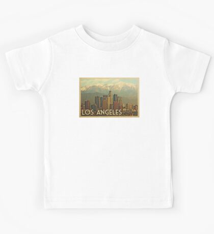 Los Angeles Vintage Travel T-shirt Kids Tee