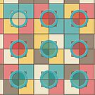 Colorful geometric pattern by Gaspar Avila