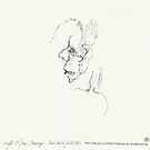 Night & Nap Drawings 92 - Empty skull - eyes closed - 31th July 2013 by Pascale Baud