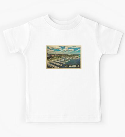 Milwaukee Vintage Travel T-shirt Kids Tee
