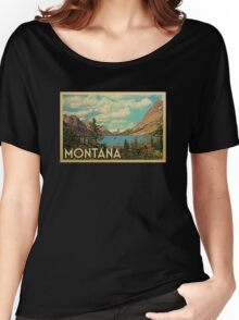 Montana Vintage Travel T-shirt Women's Relaxed Fit T-Shirt