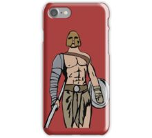 Armed gladiator iPhone Case/Skin