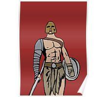 Armed gladiator Poster
