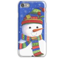 Cute highly detailed snowman iPhone Case/Skin