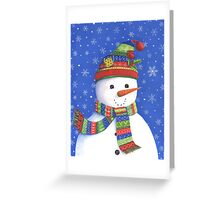 Cute highly detailed snowman Greeting Card