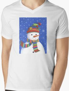 Cute highly detailed snowman Mens V-Neck T-Shirt