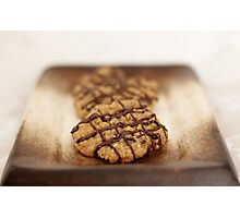 Nutty Drizzle Cookies Photographic Print