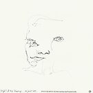 (Night) & Nap Drawings 22 - Portrait - eyes closed - 28th July 2013 by Pascale Baud