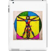 Vitruvian Man Yum Leonardo Da Vinci Colour WITH scarves iPad Case/Skin