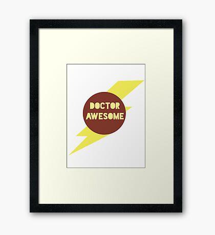 Dr Awesome Framed Print