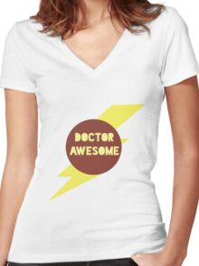 Dr Awesome Women's Fitted V-Neck T-Shirt