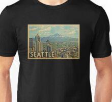 Seattle Vintage Travel T-shirt Unisex T-Shirt