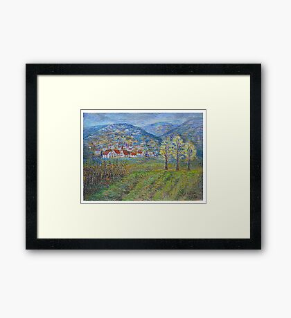 November landscape Framed Print