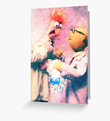 Beaker & Bunsen Greeting Card