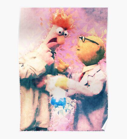 Beaker & Bunsen Poster