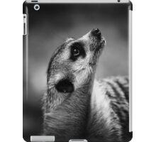 meerkat, black and white iPad Case/Skin