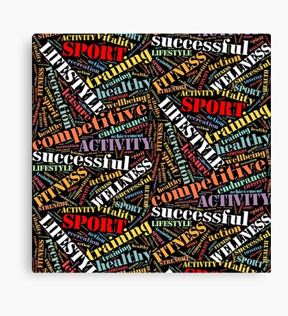 Sport related words pattern Canvas Print