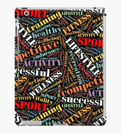 Sport related words pattern iPad Case/Skin
