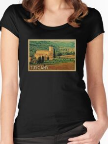 Tuscany Vintage Travel T-shirt Women's Fitted Scoop T-Shirt