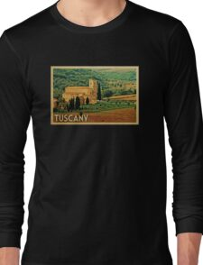 Tuscany Vintage Travel T-shirt Long Sleeve T-Shirt