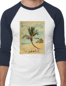 Cayman Islands Vintage Travel T-shirt - Beach Men's Baseball ¾ T-Shirt