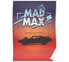 The Last of the V8's - Vintage Custom Mad Max Poster  Poster