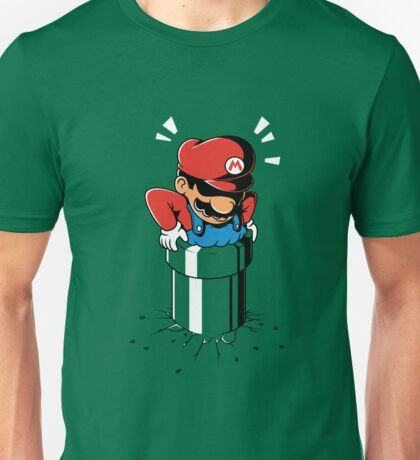 Fat Mario stuck in Pipe Unisex T-Shirt
