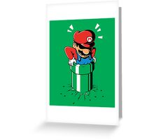 Fat Mario stuck in Pipe Greeting Card