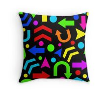 Right Direction - colorful Throw Pillow