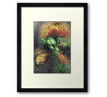 Street Fighter 2 - Blanka Framed Print