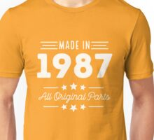 Made In 1987 All Original Parts 29th Birthday Gift T-Shirt Unisex T-Shirt