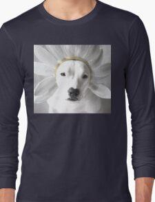 Pittie Flower Long Sleeve T-Shirt
