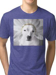 Pittie Flower Tri-blend T-Shirt