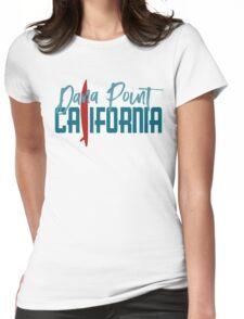 Dana Point California T-shirt - Surfboard Womens Fitted T-Shirt