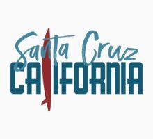 Santa Cruz California T-shirt - Surfboard Kids Tee