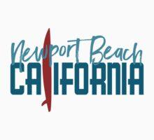 Newport Beach California T-shirt - Surfboard Kids Tee