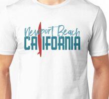 Newport Beach California T-shirt - Surfboard Unisex T-Shirt