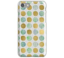 Green and Gold Polka Dots iPhone Case/Skin