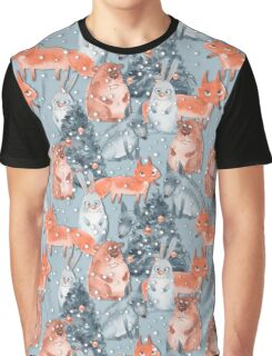 Holiday pattern with animals 5 Graphic T-Shirt