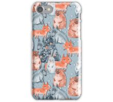 Holiday pattern with animals 5 iPhone Case/Skin