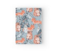Holiday pattern with animals 5 Hardcover Journal