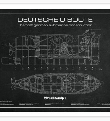 U-Boot Brandtaucher Sticker