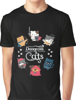 Dungeons & Cats Graphic T-Shirt