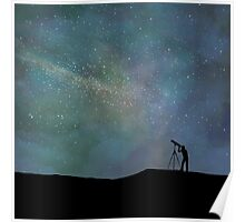 Viewing the Vastness of the Universe Poster