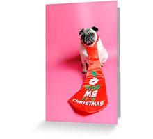 Kiss Me its Christmas Greeting Card