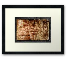 From Pan Izaak Copelman's fortune teller Framed Print