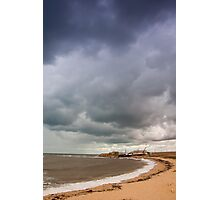 View of stormy seascape. Toned. Photographic Print