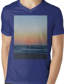 Beach Sunset Mens V-Neck T-Shirt